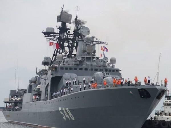 Tàu chiến của Nga cập cảng thủ đô Manila, Philippines, ngày 20-10-2017