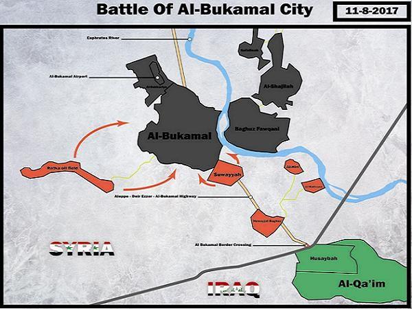 Quân đội Syria đã tiến vào nội thành Abu Kamal từ hướng Nam