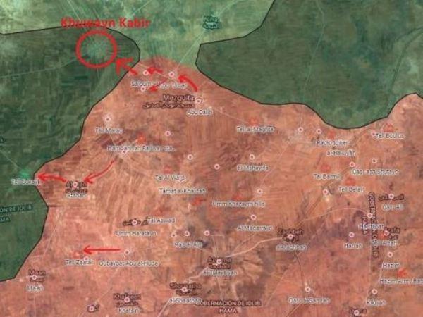 Các mũi tiến công của quân đội Syria trên chiến trường Hama trong những ngày qua