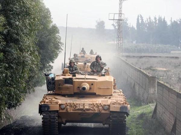 Quân đội Thổ Nhĩ Kỳ đổ bộ vào Afrin, Syria, ngày 21-1-2018