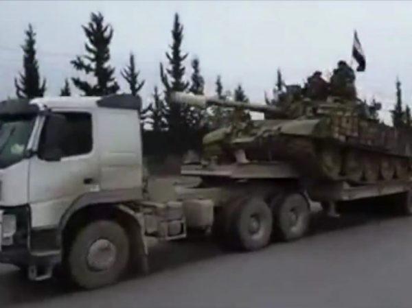 SAA điều lượng lớn thiết bị quân sự đến Đông Ghouta, quyết đập tan phiến quân ảnh 1