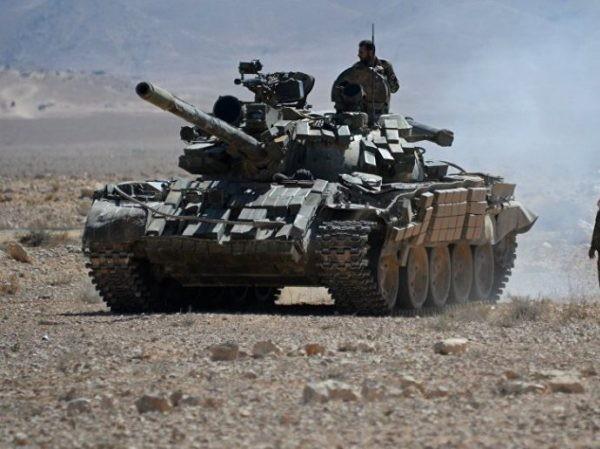 Xe tăng SAA trên chiến trường Hama