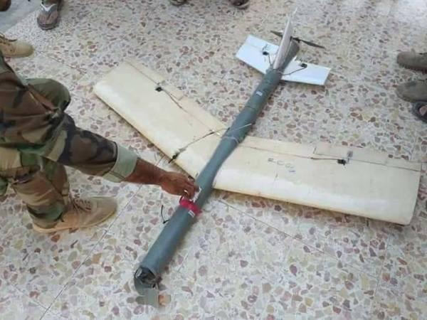 Một chiếc UAV của phiến quân bị phòng không Syria bắn hạ ở Idlib, ngày 21-8-2018