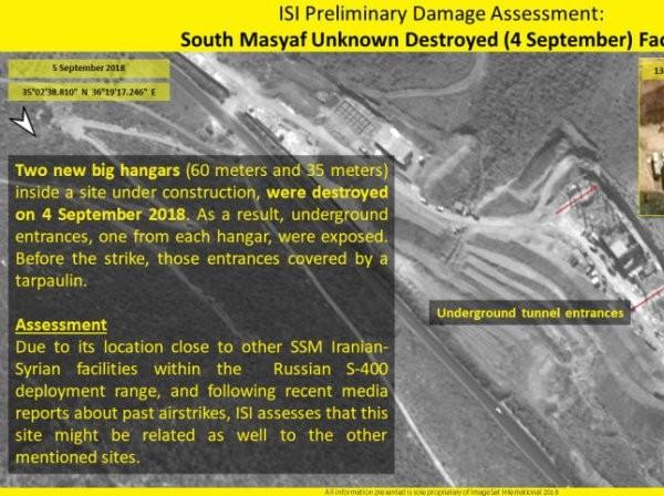 Hình ảnh vệ tinh chỉ rõ vị trí của SAA bị Israel tấn công ảnh 1