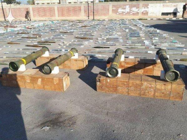 Quân đội Syria thu giữ số lượng lớn tên lửa do Mỹ chế tạo