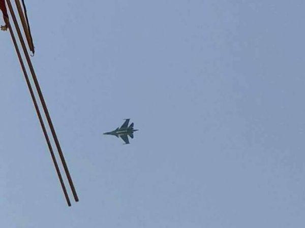 Một chiến đấu cơ Nga trên bầu trời Syria