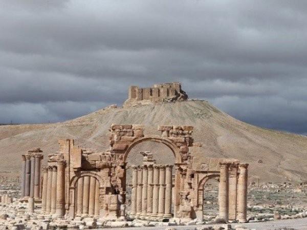 Một trong những kiến trúc cổ ở Palmyra, Syria