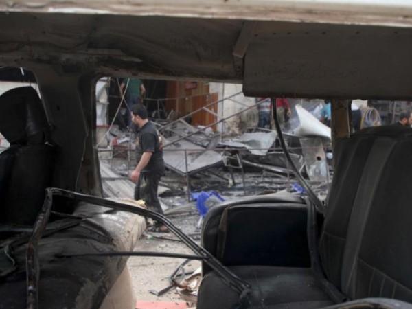 Hiện trường một vụ đụng độ giữa quân chính phủ và phiến quân ở Idlib, ngày 1-5-2019