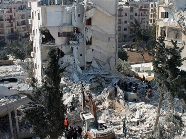 Idlib ở Syria đổ nát vì chiến tranh