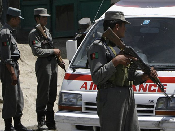Lực lượng an ninh Afghanistan có mặt tại hiện trường vụ đánh bom ở Thủ đô Kabul, ngày 2-9-2019