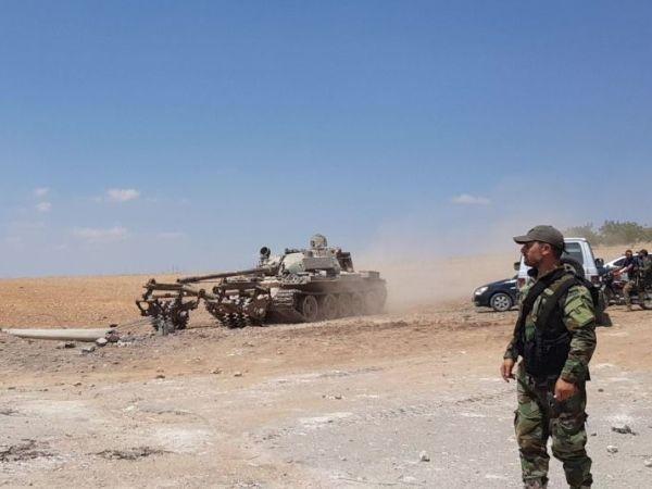 Binh sĩ Syria đang tiến hành hoạt động dọn sạch bom mìn ở Khan Sheikhoun sau khi thành phố được giải phóng, ngày 16-9-2019