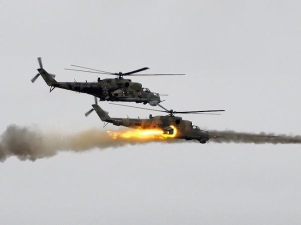 Trực thăng Nga tham chiến ở Latatkia
