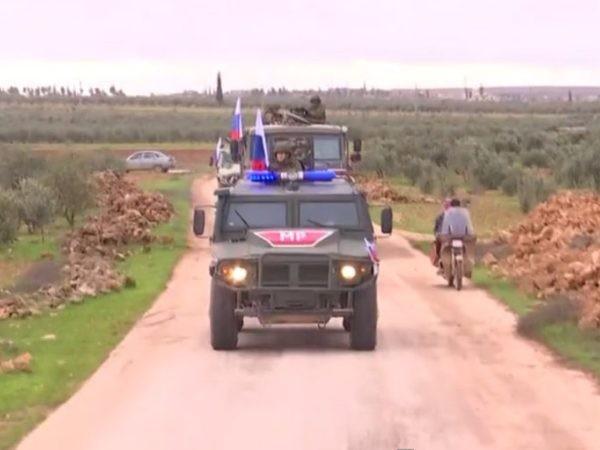 Xe quân đội Nga ở Manbij, Syria