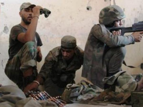 Các binh sĩ SAA đang tham chiến ở mặt trận Idlib