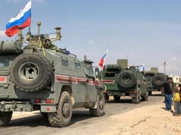Xe quân sự Nga ở Al-Hasakah của Syria