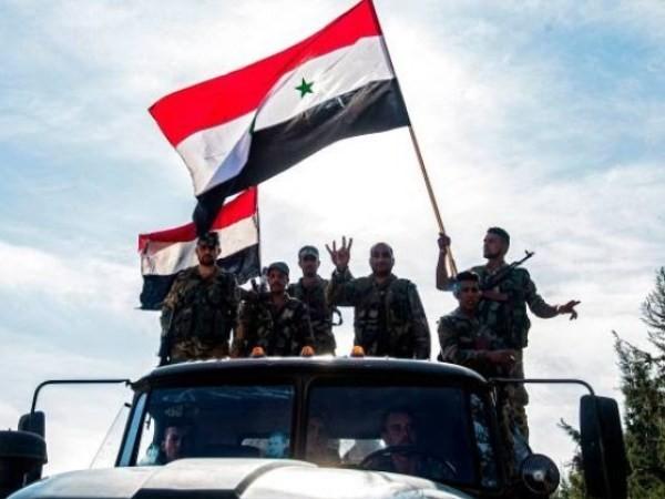Lực lượng SAA vui mừng sau khi giải phóng thành phố Aleppo, ngày 16-2-2020