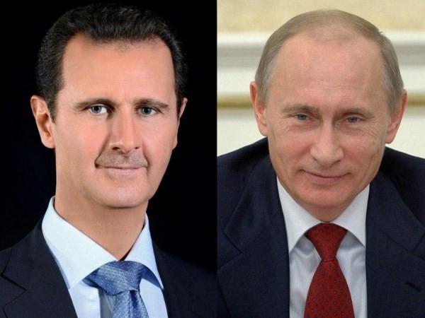 Tổng thống Nga Vladimir Putin và Tổng thống Syria Bashar Assad