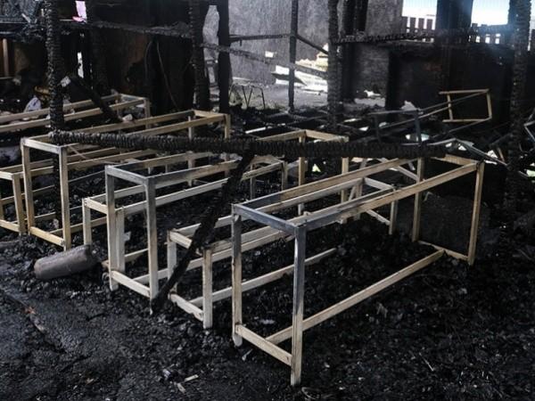Hiện trường vụ cháy tại trung tâm tị nạn trên đảo Lesbos của Hy Lạp