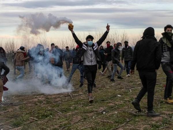 Người di cư tại biên giới Thổ Nhĩ Kỳ-Hy Lạp, ngày 8-3-2020