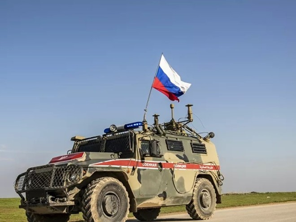 Xe của lực lượng quân cảnh Nga ở Syria