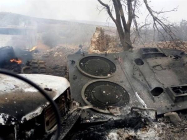 Một xe tăng chiến đấu chủ lực Leopard 2A4 của quân đội Thổ Nhĩ Kỳ bị phá hủy trên chiến trường Syria