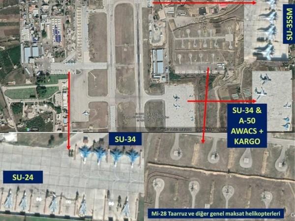 Hình ảnh vệ tinh tiết lộ Nga triển khai nhiều chiến đấu cơ đến căn cứ Hmeimim