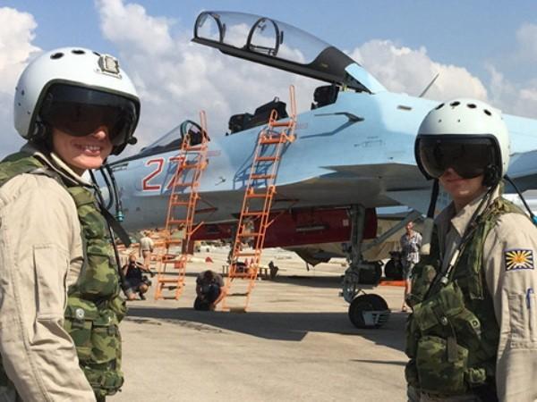 Phi công chiến đấu Nga tại căn cứ không quân Khmeimim, Syria