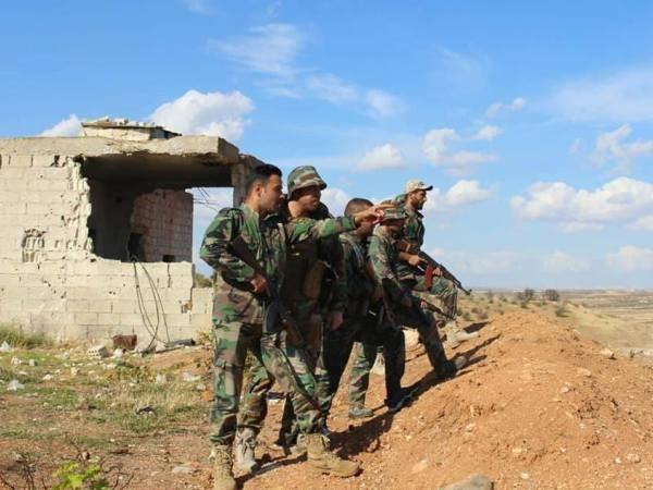 Binh sĩ quân đội Syria ở Idlib