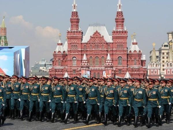 Hình ảnh lễ duyệt binh Ngày Chiến thắng diễn ra tại Matxcơva, Nga, năm 2016