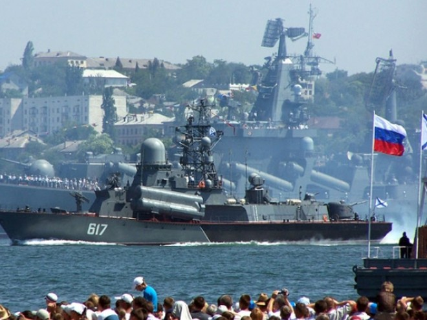 Hạm đội Biển Đen Nga đang đóng ở cảng Sevastopol thuộc bán đảo Crimea