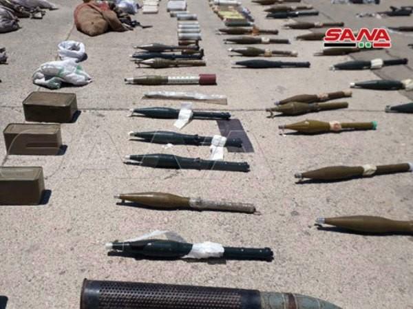 Kho vũ khí mới được quân đội Syria phát hiện ở Aleppo trong quá trình rà soát