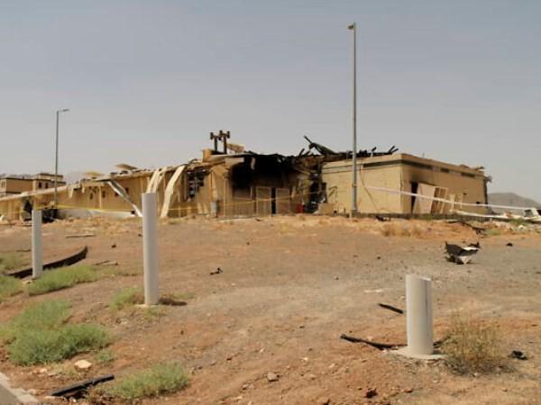 Một khu nhà trong nhà máy phản ứng hạt nhân Natanz bị hư hại sau vụ nổ, ngày 2-7-2020