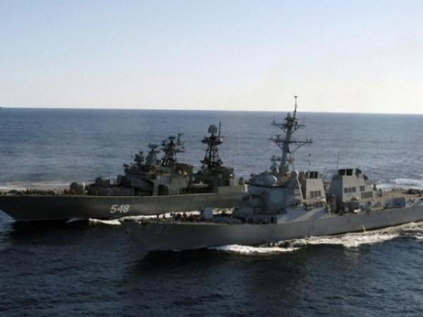 Các tàu chiến Nga đã áp sát bờ biển Latvia