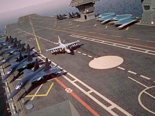 Mô hình siêu tàu sân bay Storm của Nga