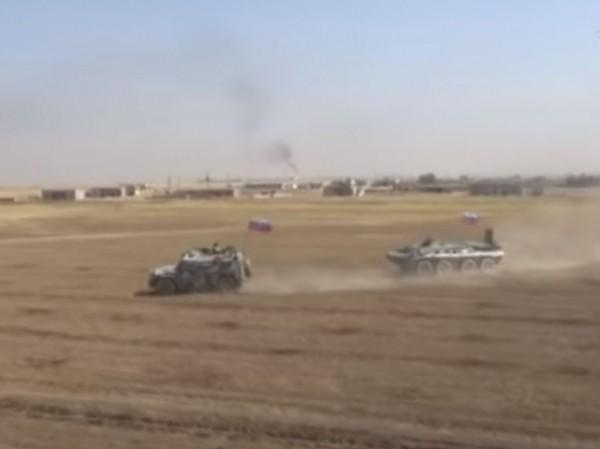 Lực lượng cơ giới Nga dàn đội hình bao vây xe bọc thép Mỹ, ngày 18-7-2020