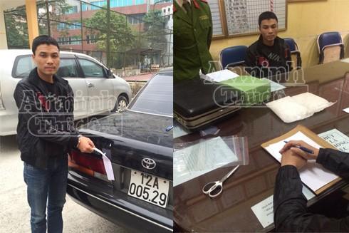 Đối tượng Phan Văn Hùng bị bắt khi trên đường giao, bán 4 gói ma túy đá về Hà Nội