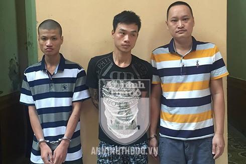 3 đối tượng Mạnh, Thắng, Dũng (từ trái sang phải)