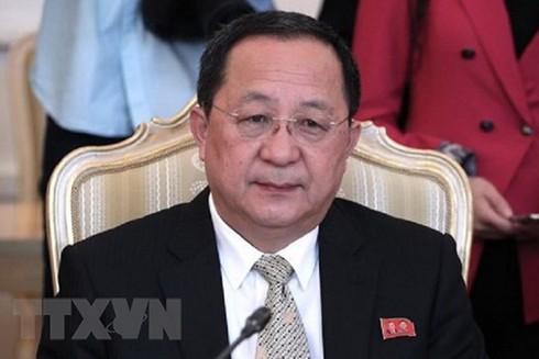 Ngoại trưởng Triều Tiên Ri Yong-ho. (Nguồn: IRNA/TTXVN)