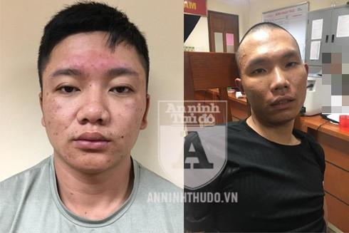 Hai đối tượng trộm cắp xe máy Minh (trái) và Tuấn (phải)
