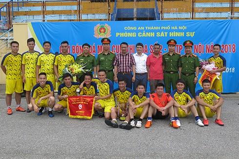Với tỉ số sát nút 2-1 trong trận chung kết, đội bóng đến từ Văn phòng cơ quan CSĐT - CATP Hà Nội đã giành cúp vô địch