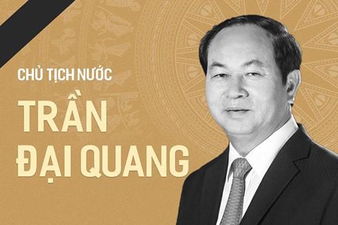 Chủ tịch nước Trần Đại Quang đã có nhiều đóng góp cho sự nghiệp xây dựng và phát triển đất nước