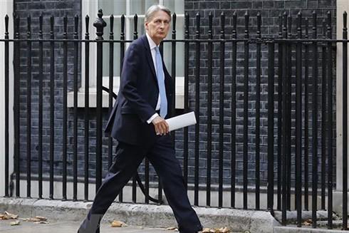 Bộ trưởng Tài chính Anh Philip Hammond tại thủ đô London. (Ảnh: AFP/TTXVN)