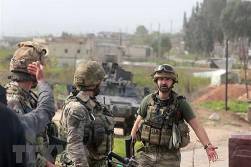 Binh sỹ Thổ Nhĩ Kỳ tại trạm kiểm soát an ninh ở Afrin, Syria ngày 20/3