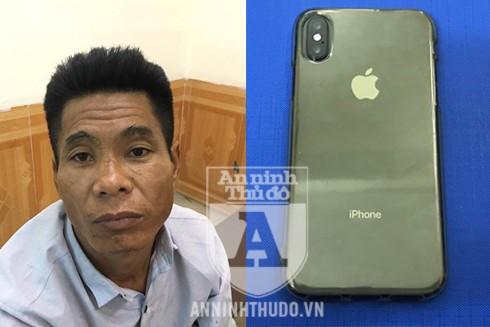 """Đối tượng Đỗ Việt Anh và chiếc điện thoại Iphone X bị """"hack"""""""