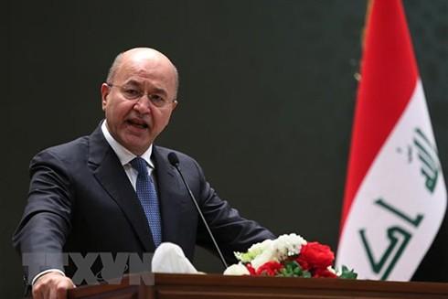 Tổng thống Iraq Barham Salih. (Nguồn: AFP/TTXVN)