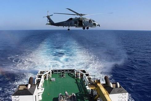 Tàu hải quân Ai Cập tham gia cuộc tập trận hải quân và không quân chung với CH Síp và Hy Lạp ngày 27-6-2018. Nguồn: Egypttoday