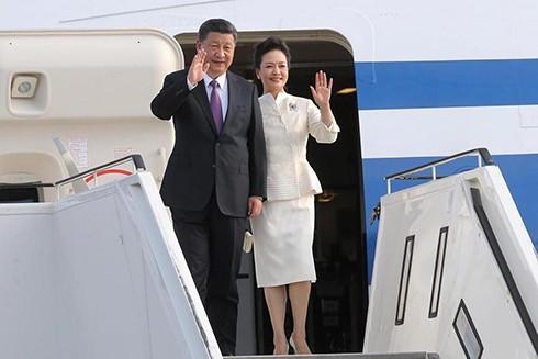 Chủ tịch Trung Quốc Tập Cận Bình và phu nhân (Ảnh: TTX)
