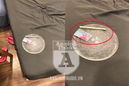 Cảnh sát phát hiện, thu giữ dụng cụ sử dụng ma túy trong phòng ngủ của căn chung cư