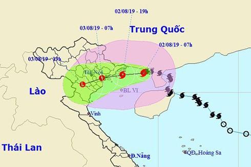 Chiều nay (2-8), bão số 3 sẽ đổ bộ vào Vịnh Bắc Bộ