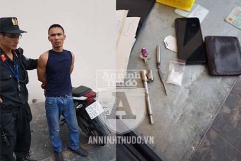 Đối tượng Đại bị phát hiện mang theo ma túy, vam phá khóa và súng bút trong người
